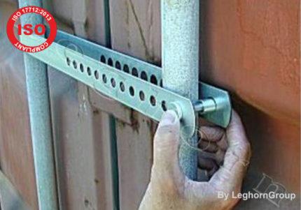 barre antivol pour container block bar