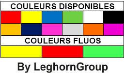 bracelets d'identification plastique couleurs