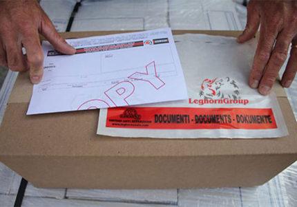 enveloppes adhesives porte documents packing list