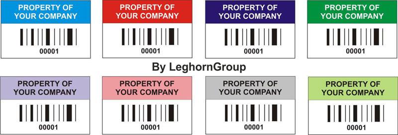 etiquettes d'identification biens couleurs personnalisations