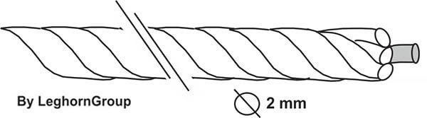 ficelle douaniere ame metallique dessin technique