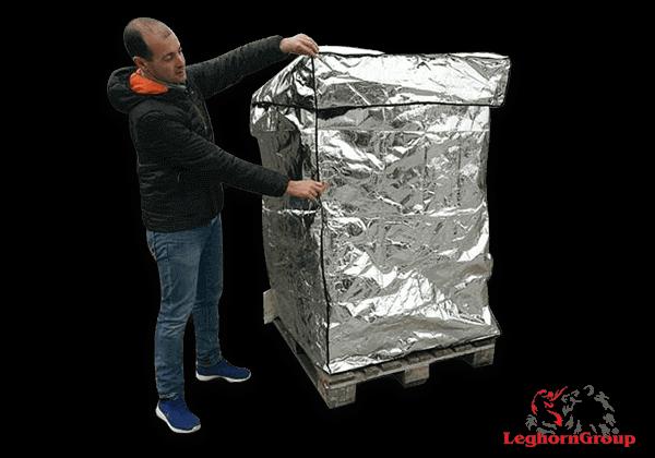 housse pour palette thermique aluminium