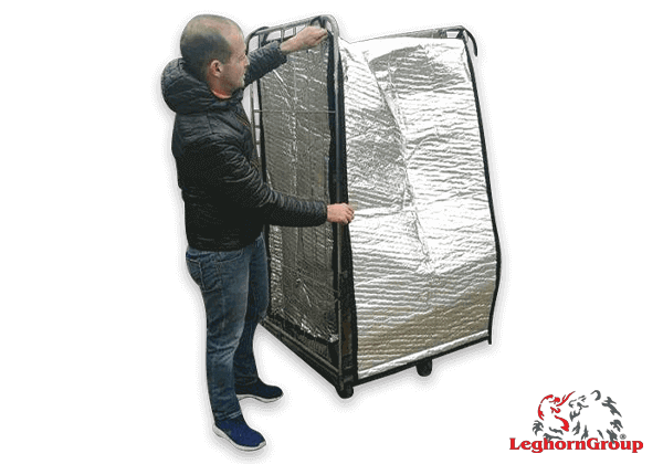 housse thermique pour chariot roll container