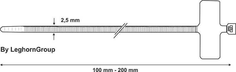 liens d'identification plastique dessin technique