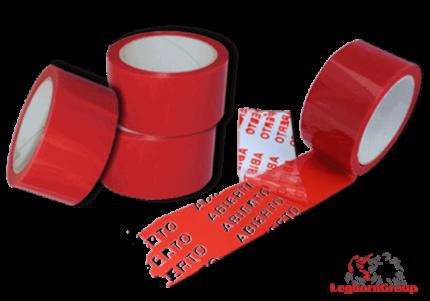 ruban adhesif de securite et anti alteration