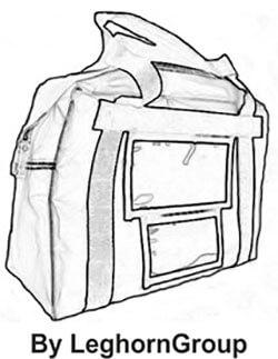 sac transport d'argent london dessin technique