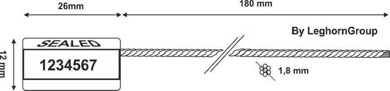 scelle cable achelou dessin technique