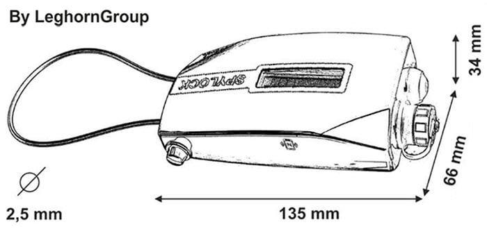 scelle electronique spylock dessin technique