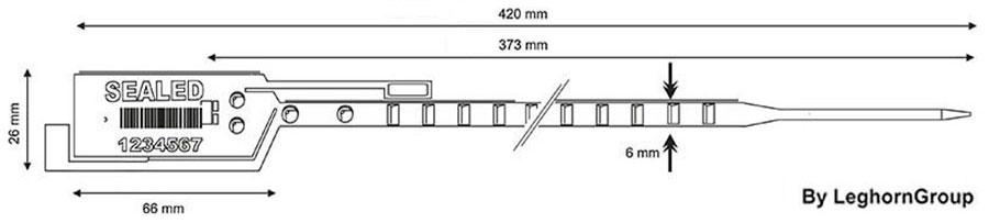 scelle plastique long seal 6×420 mm dessin technique