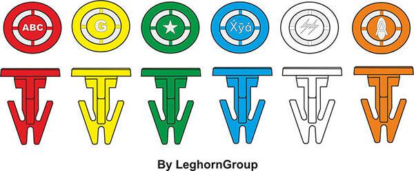scelle plastique toteboxseal 17x14 mm couleurs personnalisations