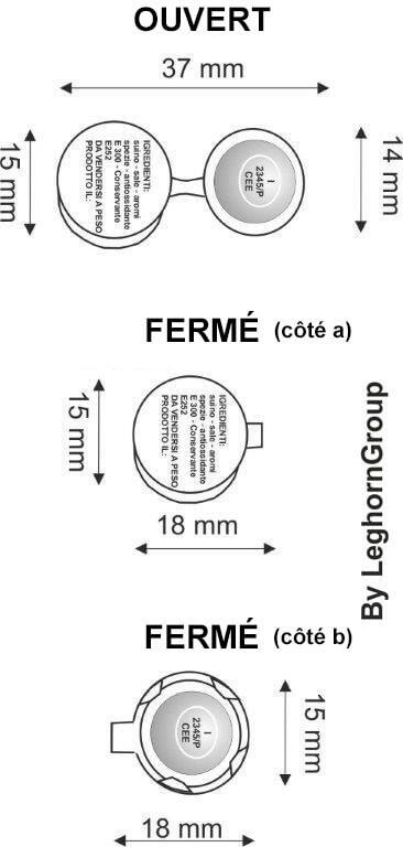 scelles aluminium roundcrimp 15×37 mm-dessin-technique