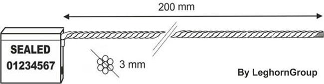 scelles avec cable 3×200 mm dessin technique