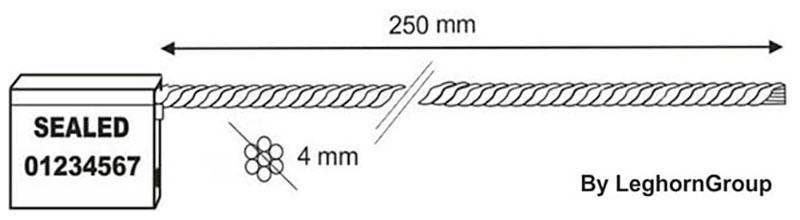 scelles cable 4×250 mm dessin technique