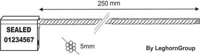 scelles cable 5×250 mm dessin technique