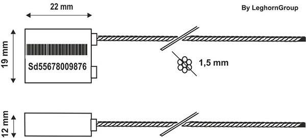 scelles cable boreaseal lw 1.5 mm dessin technique
