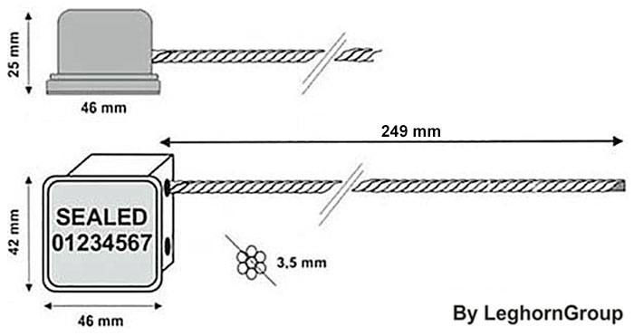 scelles cable minicable rfid dessin technique