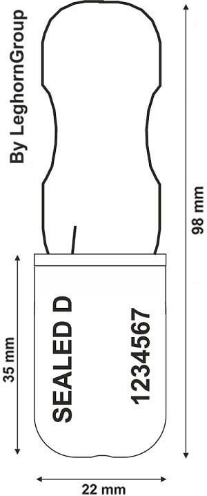scelles cadenas padlockseal 180-1 dessin technique
