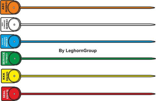 scelles plastique alcyoneseal 1x161 mm couleurs personnalisations