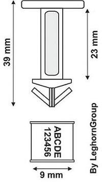 scelles plastique drumseal dessin technique