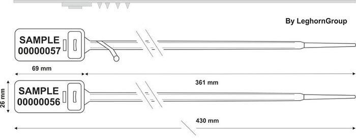 scelles plastique hectorseal ww 7.5×430 mm dessin technique