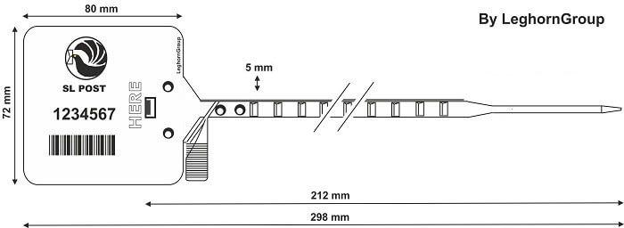 scelles plastique heraklis 5×298 mm dessin technique