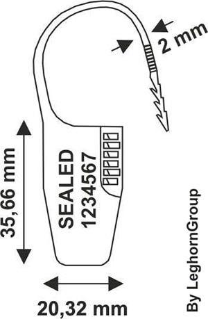 scelles plastique ocypiteseal dessin technique