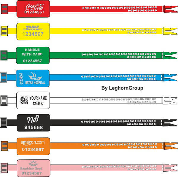scelles plastique ringlabelseal couleurs personnalisations