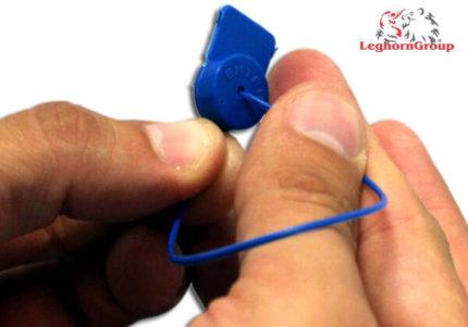 scelles polypropylene pour compteurs alcyoneseal 1x161 mm