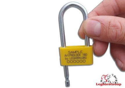 scelles type cadenas anneau acier padlockseal 160-4