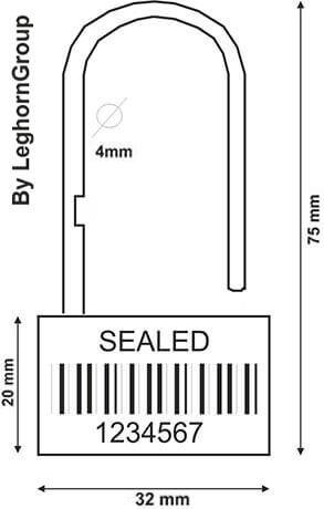 scelles type cadenas padlockseal 160 4 dessin technique