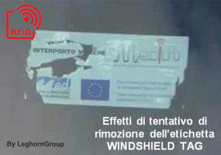 etiquette de pare brise windshield tag rfid uhf