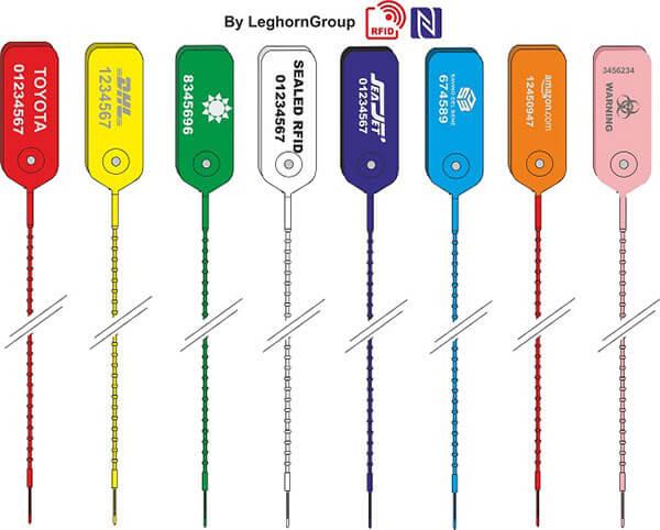 scelle plastique rfid adjusteseal couleurs personnalisations