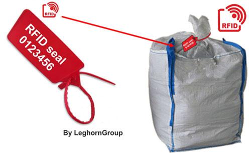 scelles rfid pour gestion grands sacs boues exemple