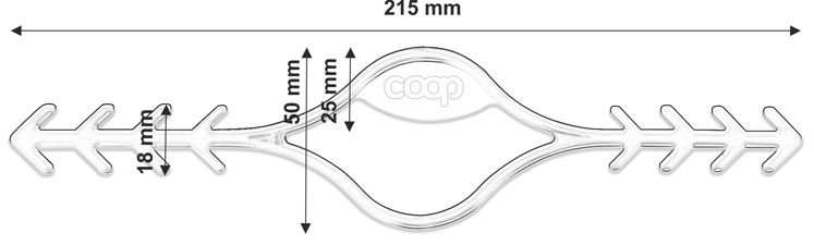 attache masque pour les oreilles dessin technique